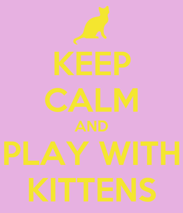 KEEP CALM AND PLAY WITH KITTENS