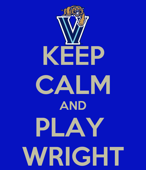 KEEP CALM AND PLAY  WRIGHT