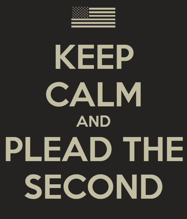 KEEP CALM AND PLEAD THE SECOND