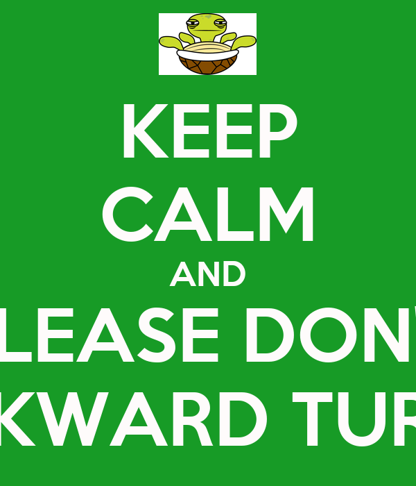 KEEP CALM AND PLEASE DON'T AWKWARD TURTLE