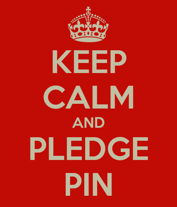 KEEP CALM AND PLEDGE PIN