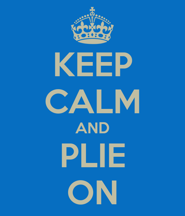 KEEP CALM AND PLIE ON