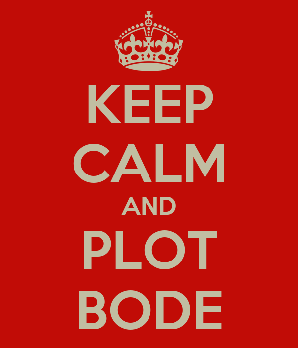 KEEP CALM AND PLOT BODE