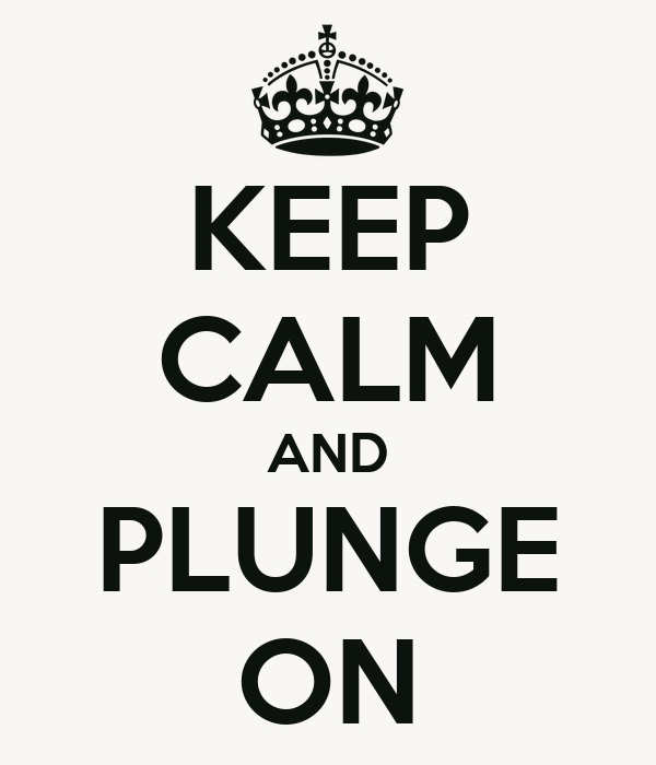 KEEP CALM AND PLUNGE ON