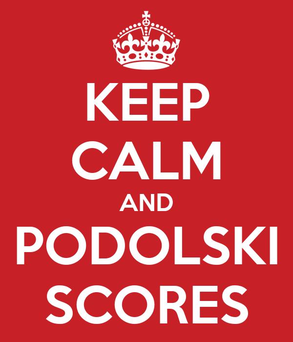 KEEP CALM AND PODOLSKI SCORES