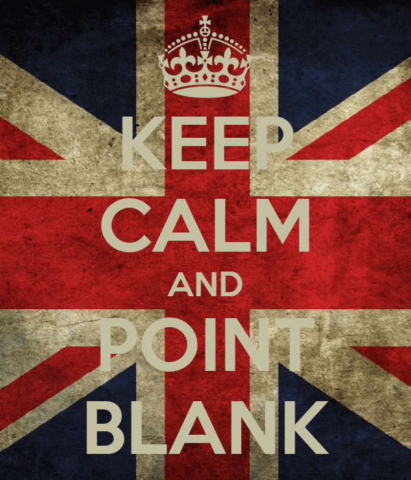 KEEP CALM AND POINT BLANK