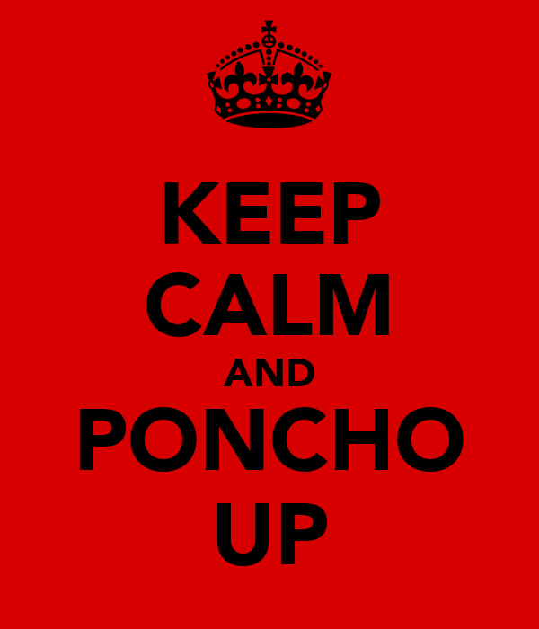KEEP CALM AND PONCHO UP