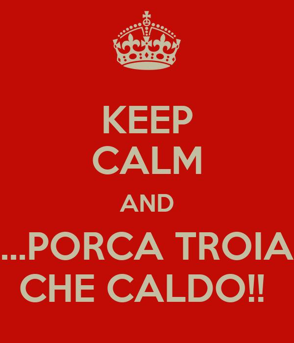 KEEP CALM AND ...PORCA TROIA CHE CALDO!!