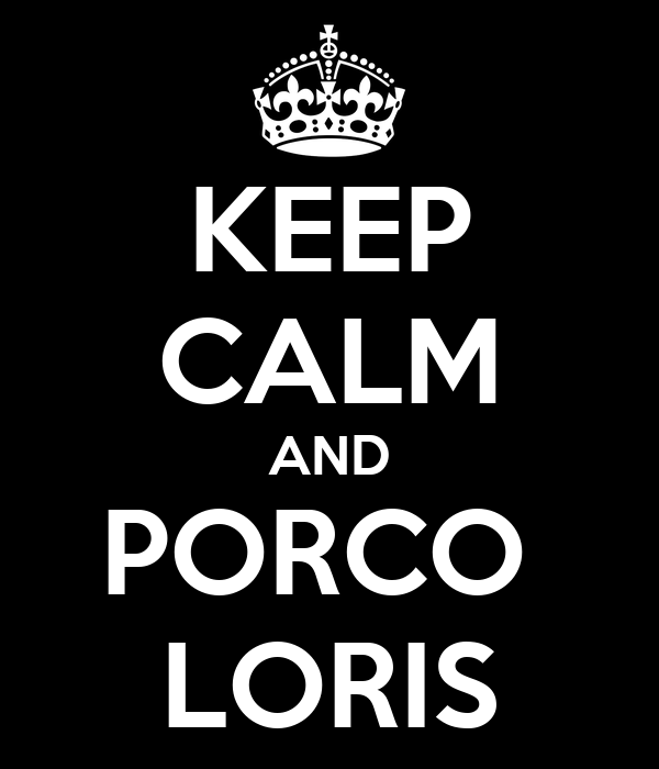 KEEP CALM AND PORCO  LORIS