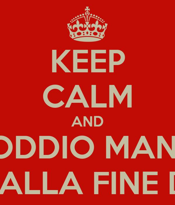 KEEP CALM AND PORCODDIO MANCANO 100 GIORNI ALLA FINE DEL MONDO
