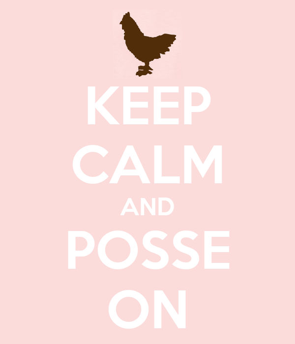 KEEP CALM AND POSSE ON
