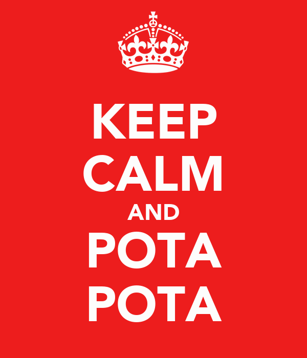 KEEP CALM AND POTA POTA