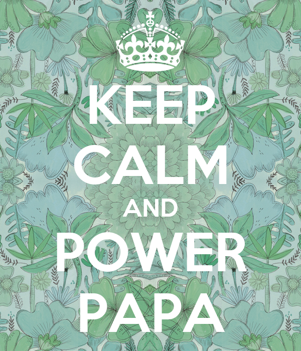 KEEP CALM AND POWER PAPA
