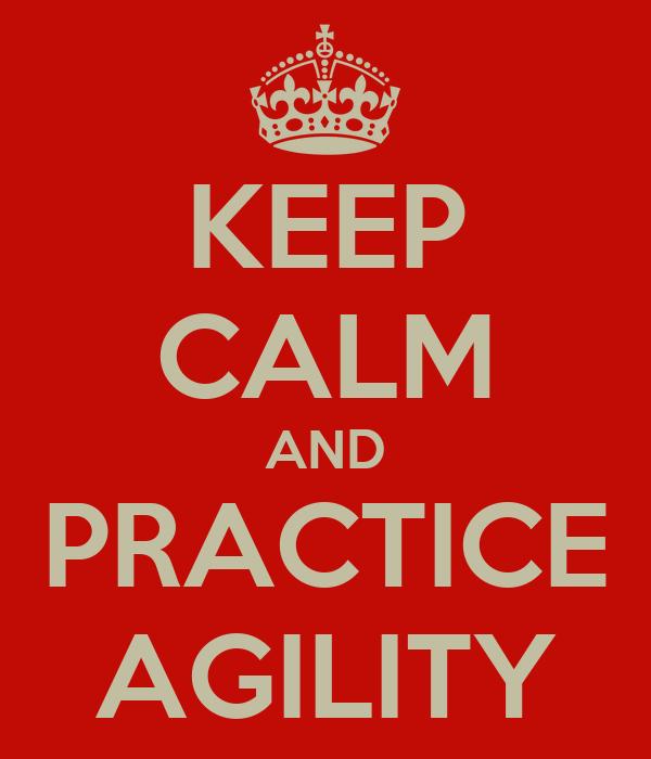 KEEP CALM AND PRACTICE AGILITY