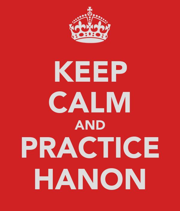 KEEP CALM AND PRACTICE HANON