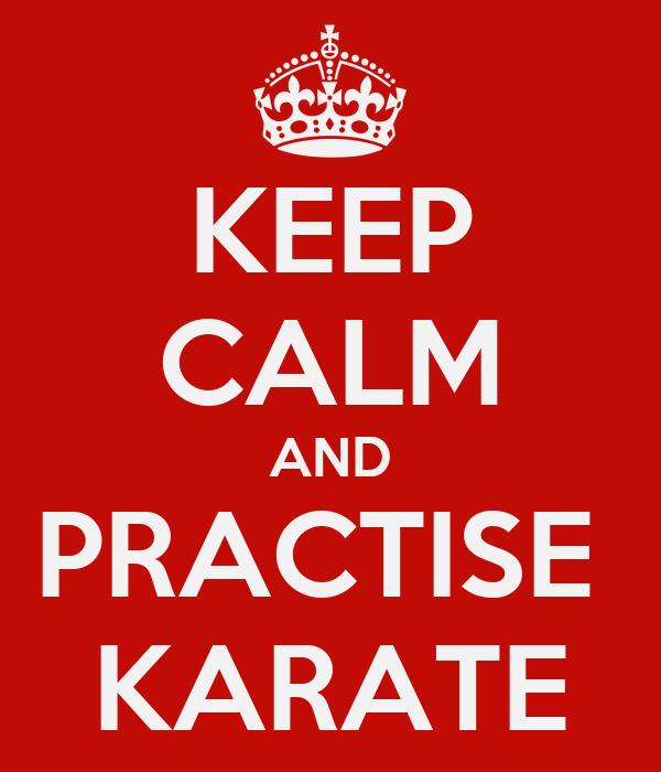 KEEP CALM AND PRACTISE  KARATE