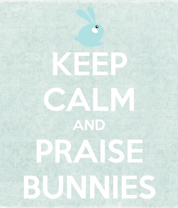 KEEP CALM AND PRAISE BUNNIES