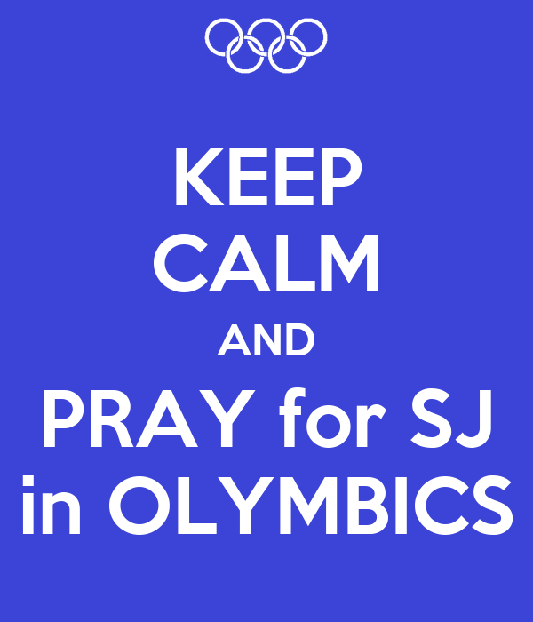 KEEP CALM AND PRAY for SJ in OLYMBICS