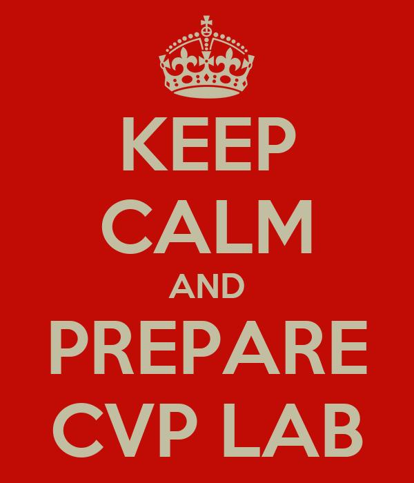 KEEP CALM AND PREPARE CVP LAB