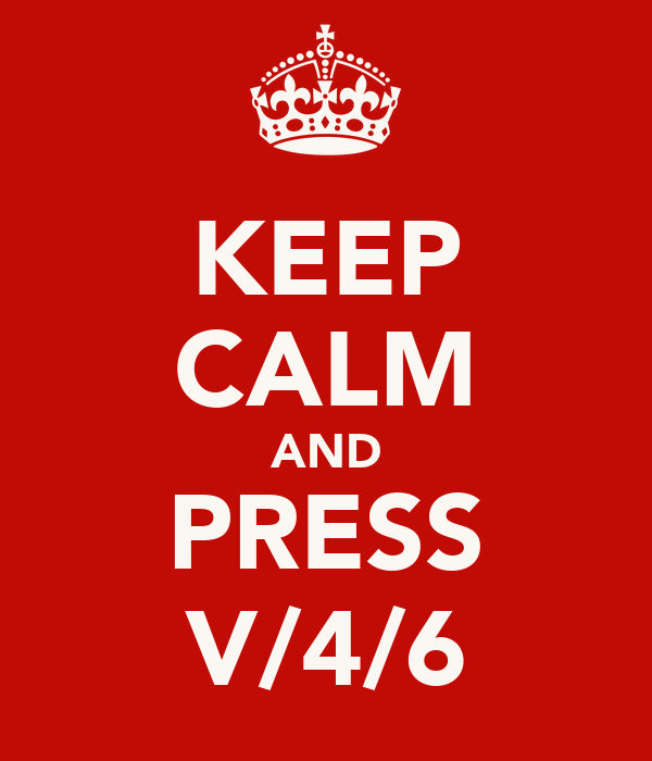 KEEP CALM AND PRESS V/4/6