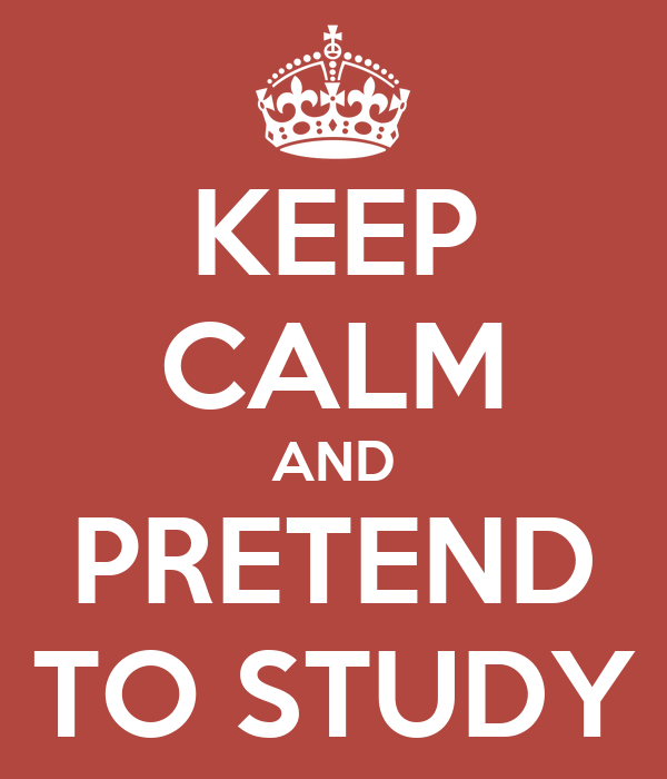 KEEP CALM AND PRETEND TO STUDY