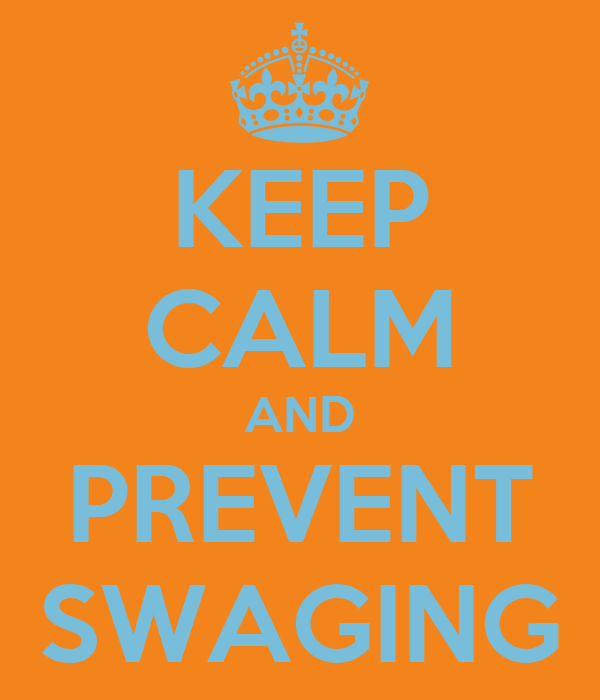 KEEP CALM AND PREVENT SWAGING