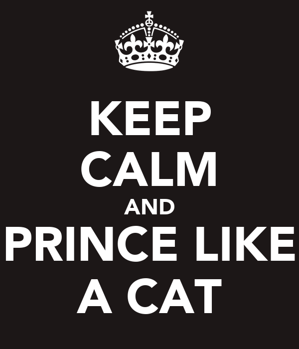 KEEP CALM AND PRINCE LIKE A CAT