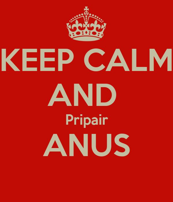 KEEP CALM AND  Pripair ANUS