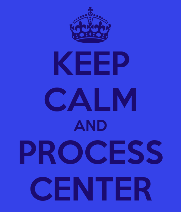 KEEP CALM AND PROCESS CENTER