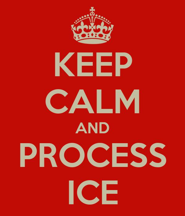 KEEP CALM AND PROCESS ICE