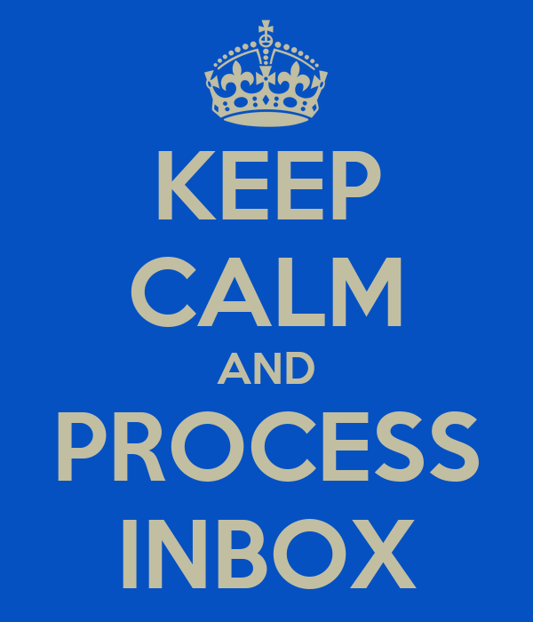 KEEP CALM AND PROCESS INBOX