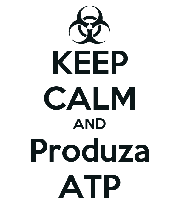KEEP CALM AND Produza ATP