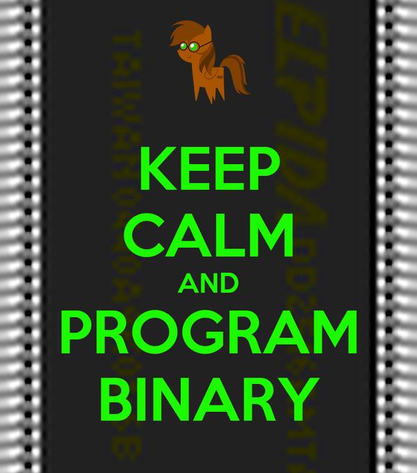 KEEP CALM AND PROGRAM BINARY