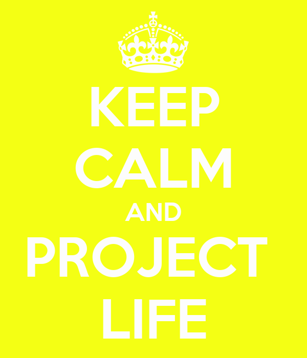KEEP CALM AND PROJECT  LIFE