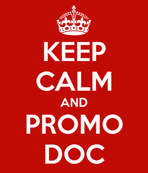KEEP CALM AND PROMO DOC