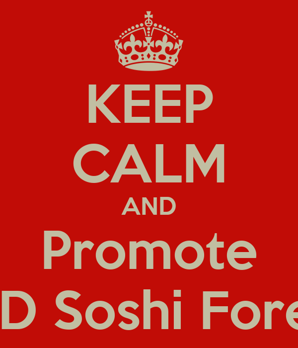 KEEP CALM AND Promote SNSD Soshi Forever
