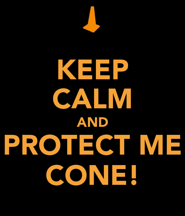 KEEP CALM AND PROTECT ME CONE!