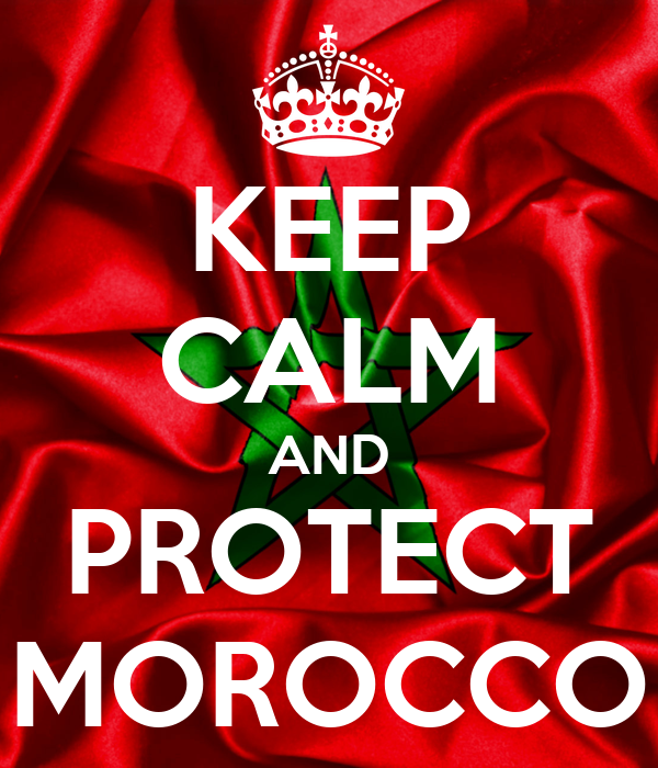 KEEP CALM AND PROTECT MOROCCO