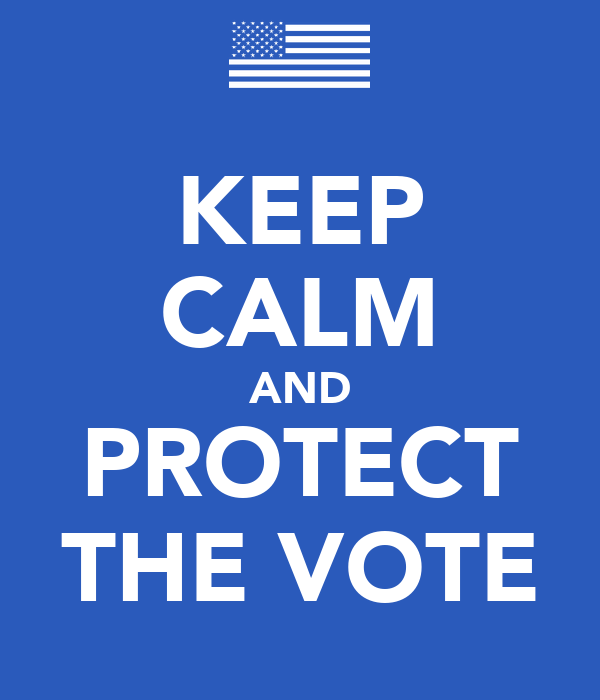 KEEP CALM AND PROTECT THE VOTE