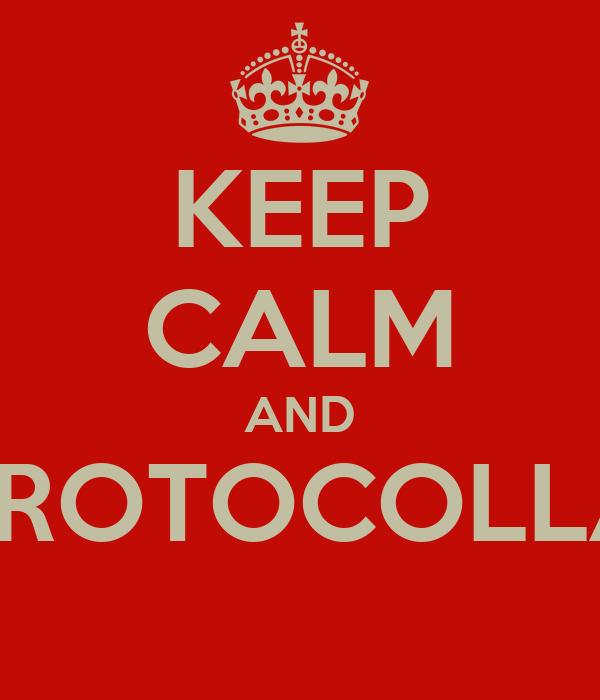 KEEP CALM AND PROTOCOLLA