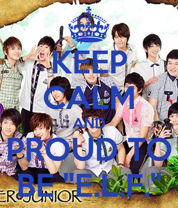 """KEEP CALM AND PROUD TO BE """"E.L.F."""""""