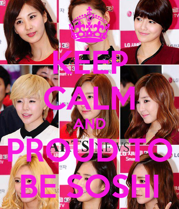 KEEP CALM AND PROUD TO BE SOSHI
