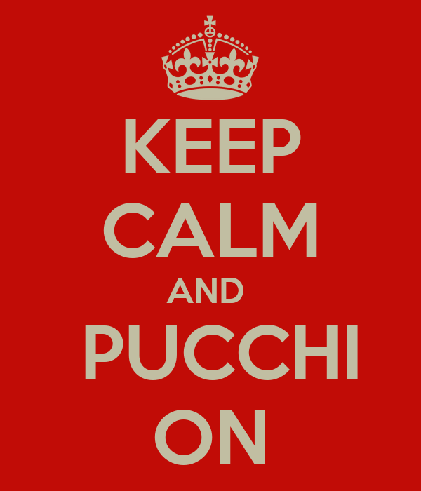 KEEP CALM AND   PUCCHI ON