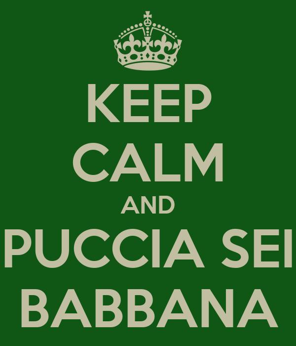 KEEP CALM AND PUCCIA SEI BABBANA
