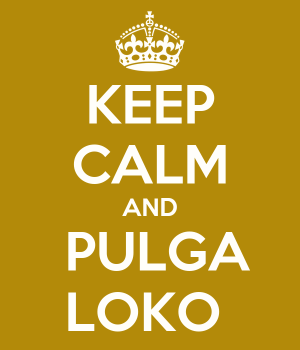 KEEP CALM AND  PULGA LOKO
