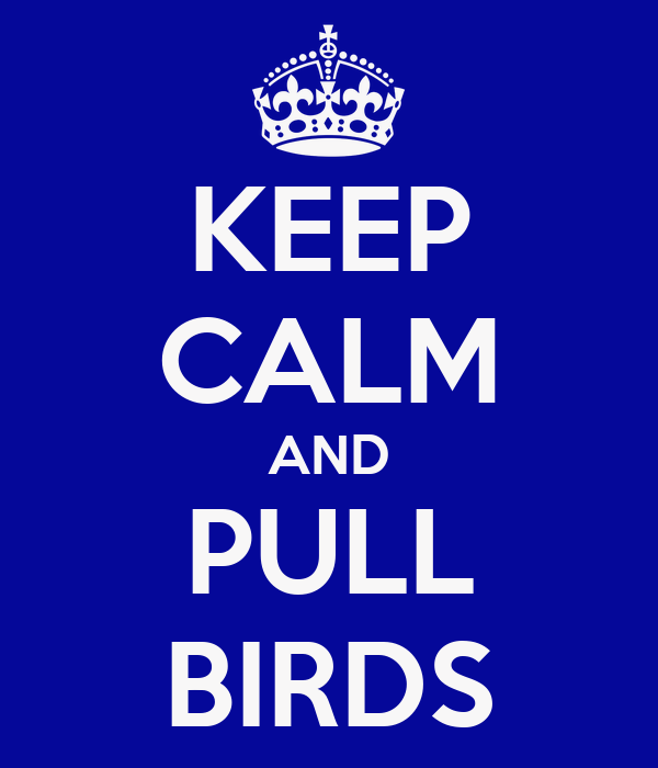 KEEP CALM AND PULL BIRDS