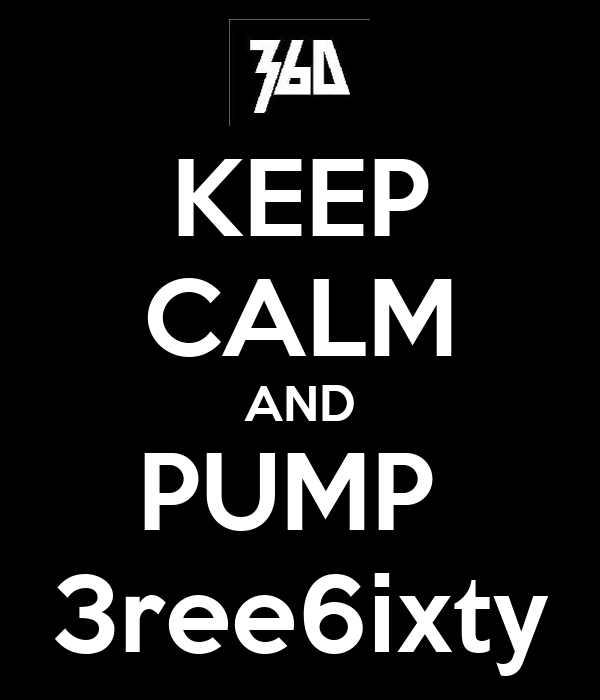 KEEP CALM AND PUMP  3ree6ixty