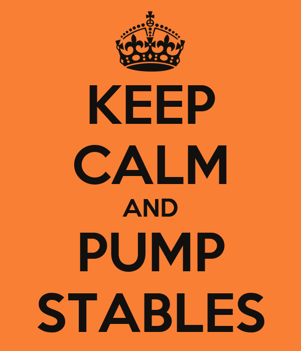 KEEP CALM AND PUMP STABLES