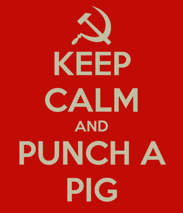 KEEP CALM AND PUNCH A PIG