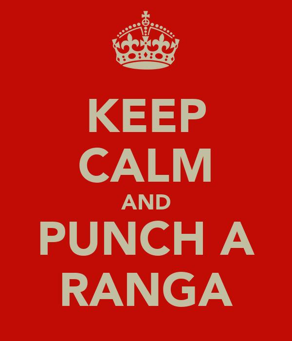 KEEP CALM AND PUNCH A RANGA